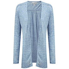 Buy Pure Collection Luxury Linen Longline Cardigan, Chambray Online at johnlewis.com