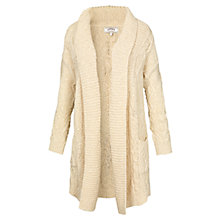 Buy Fat Face Carmarthen Edge to Edge Cotton Cardigan, Ivory Online at johnlewis.com