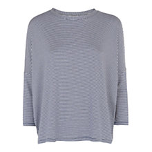 Buy Hobbs Emma T-shirt, Mid Blue Online at johnlewis.com