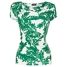 Buy Phase Eight Fionn Fern Print Top, Green/White Online at johnlewis.com
