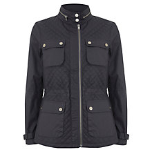 Buy Mint Velvet Quilted Jacket, Steel Online at johnlewis.com
