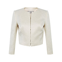 Buy Hobbs Audrey Jacket, Warm Ivory Online at johnlewis.com