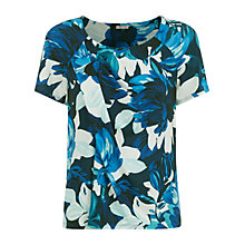 Buy Planet Flower Print Top, Multi Blue Online at johnlewis.com