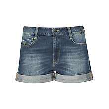 Buy French Connection Vintage Wash Nancy Shorts, Blue Online at johnlewis.com