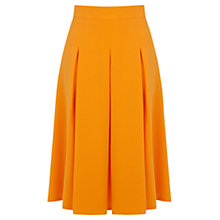 Buy Miss Selfridge Crepe Midi Skirt, Orange Online at johnlewis.com