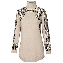 Buy Fat Face Notton Patterned Roll Neck Jumper, Ivory Online at johnlewis.com