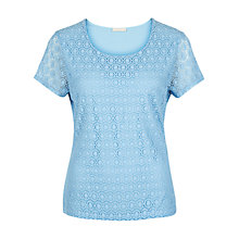 Buy Planet Circle Lace Jersey Top Online at johnlewis.com