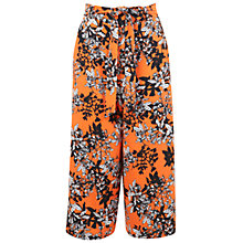Buy Miss Selfridge Floral Printed Culottes, Orange Online at johnlewis.com
