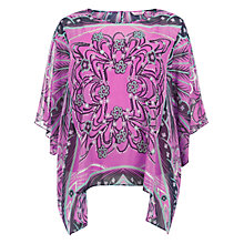Buy Windsmoor Draped Pearls Kaftan Top, Multi Pink Online at johnlewis.com