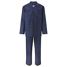 Buy John Lewis Cotton Savile Row Floral Archive Pyjamas, Navy Online at johnlewis.com