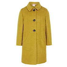 Buy John Lewis Girl Swing Coat, Mustard Online at johnlewis.com