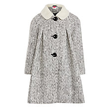 Buy John Lewis Girl Tweed Coat, Black/White Online at johnlewis.com