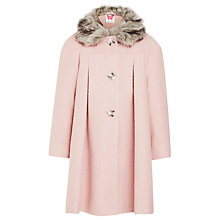 Buy John Lewis Girl Glitter Coat, Pink Online at johnlewis.com