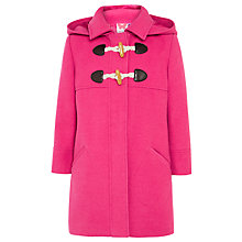 Buy John Lewis Girl Duffle Coat, Pink Online at johnlewis.com