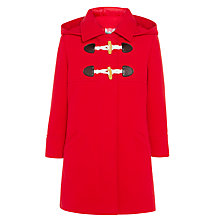 Buy John Lewis Girl Duffle Coat, Red Online at johnlewis.com