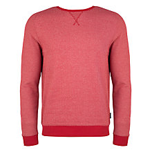 Buy Ted Baker Crosbie Herringbone Sweatshirt, Red Online at johnlewis.com