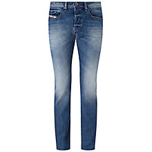 Buy Diesel Buster 0839C Tapered Jeans, Light Wash Online at johnlewis.com