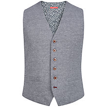Buy Ted Baker Sneeper Oxford Jersey Waistcoat, Grey/Navy Online at johnlewis.com