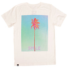 Buy Dedicated Smile Palm Graphic Design T-Shirt, White Online at johnlewis.com