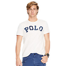 Buy Polo Ralph Lauren Distressed Polo T-Shirt, Cream Online at johnlewis.com