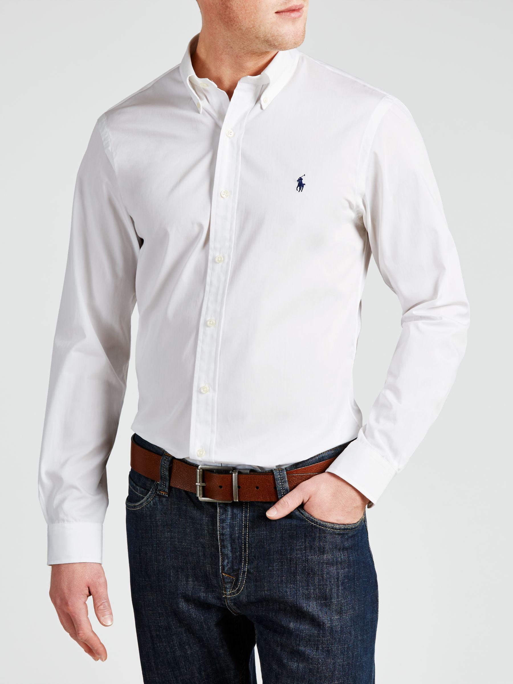 ralph lauren white cotton shirt