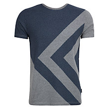 Buy Ted Baker Esdial Graphic Print T-Shirt, Navy/Grey Online at johnlewis.com