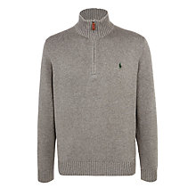 Buy Polo Ralph Lauren Half Zip Cotton Jumper Online at johnlewis.com