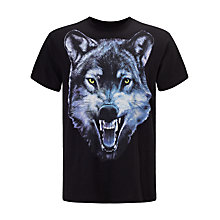 Buy Diesel T-Mocty Graphic Design Wolf T-Shirt, Black Online at johnlewis.com