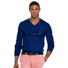 Buy Polo Ralph Lauren Pima Cotton V-Neck Sweater, Boston Royal Online at johnlewis.com