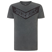 Buy Diesel T-Patry Branded T-Shirt, Charcoal Online at johnlewis.com
