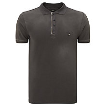 Buy Diesel T-Ukyo Zip Detail Polo Shirt, Charcoal Online at johnlewis.com