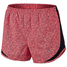 Buy Nike Women's Tempo Printed Shorts, Lava Glow/Black Online at johnlewis.com