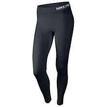 Buy Nike Pro Running Tights, Black/White Online at johnlewis.com