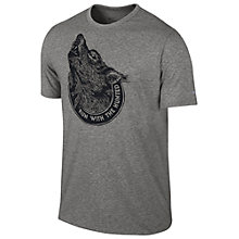 Buy Nike Running Printed Hunted T-Shirt, Grey Online at johnlewis.com