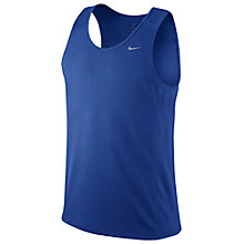 Buy Nike Miler Singlet Running Vest, Game Royal Online at johnlewis.com
