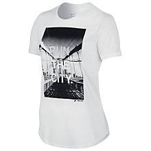 Buy Nike Run The City T-Shirt, White Online at johnlewis.com
