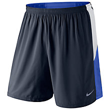 "Buy Nike Pursuit 7"" Pursuit 2-in-1 Running Shorts, Black/Blue Online at johnlewis.com"