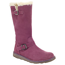 Buy John Lewis Leia Shearling Top Boots, Plum Online at johnlewis.com