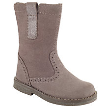 Buy John Lewis Isobel Short Brogue Boots, Brown Online at johnlewis.com