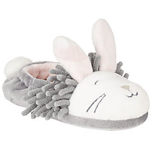 Buy John Lewis Noodle Bunny Slippers, White/Grey Online at johnlewis.com