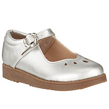 Buy John Lewis Holly Sweetheart Mary Jane Shoes, Silver Online at johnlewis.com