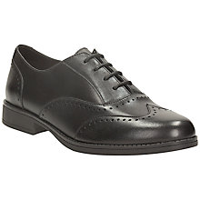 Buy Clarks Sami Flash Leather Brogue Shoes, Black Online at johnlewis.com