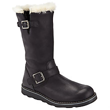 Buy John Lewis Leia Shearling Leather Top Boots, Black Online at johnlewis.com
