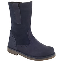 Buy John Lewis Isobel Brogue Boots, Navy Online at johnlewis.com