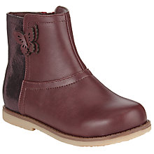 Buy John Lewis Becky Butterfly Detail Boots, Purple Online at johnlewis.com