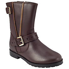 Buy John Lewis Fiona Zip-Up Biker Boots, Oxblood Red Online at johnlewis.com