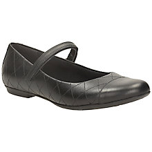 Buy Clarks Kim Quilted Leather Mary Jane Shoes, Black Online at johnlewis.com