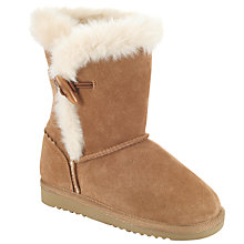 Buy John Lewis Faux Sheepskin Snuggle Boots, Tan Online at johnlewis.com