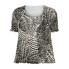 Buy Windsmoor Crinkle Top, Black/Multi Online at johnlewis.com