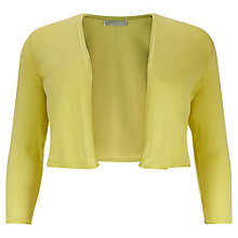 Buy Windsmoor Knitted Bolero, Bright Yellow Online at johnlewis.com